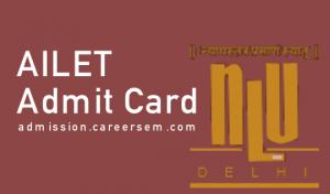 AILET Admit Card